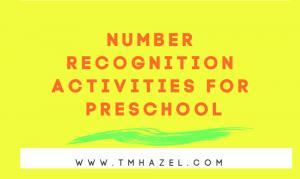 NUMBER RECOGNITION ACTIVITIES FOR PRESCHOOL