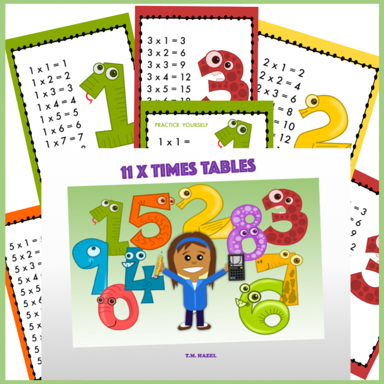 TIMES TABLES MULTIPLICATION CARDS
