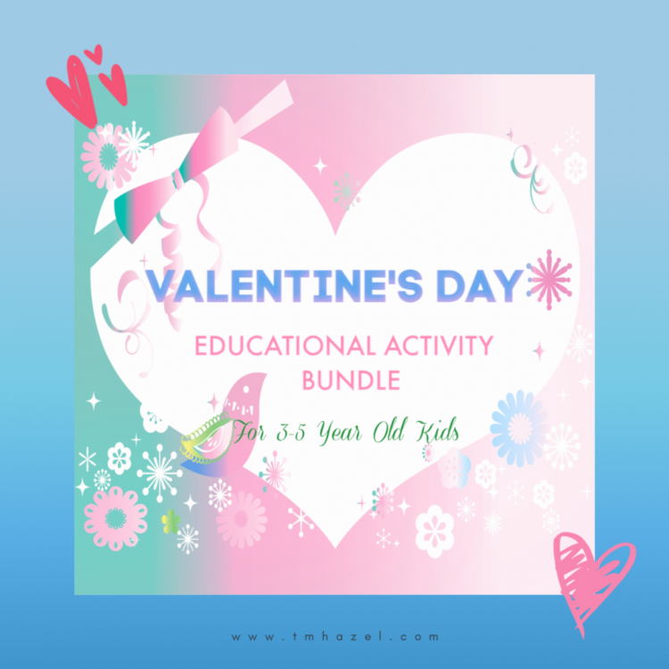 valentines day Educational Activity Bundle for Kids