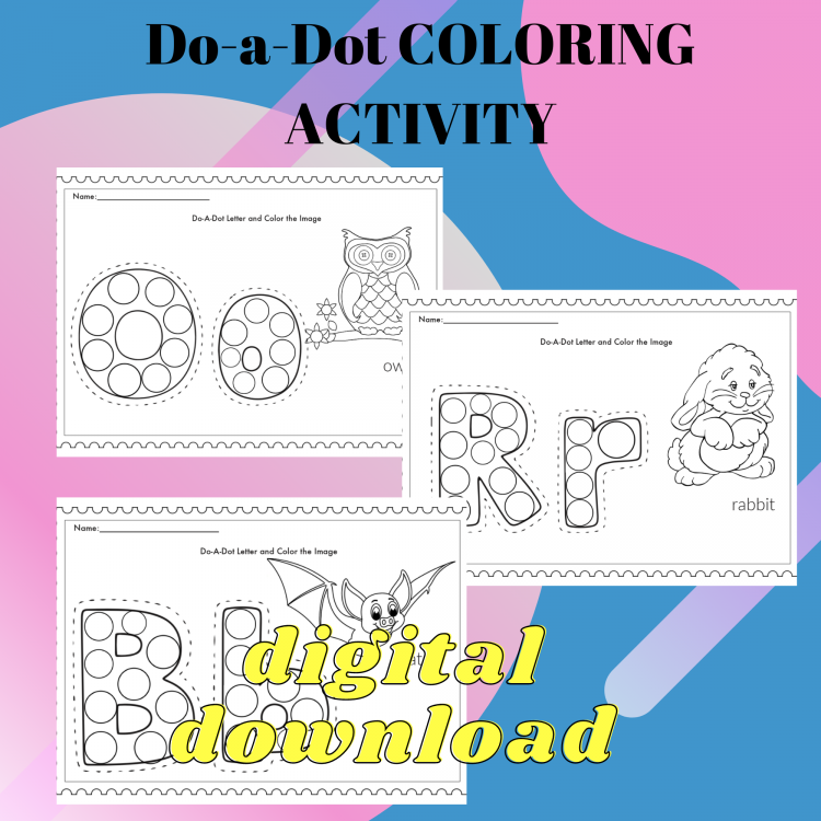 Do a Dot Alphabet Printables