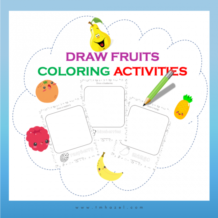 FRUIT DRAWING ACTIVITY PAGES