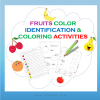 fruits color identification activities