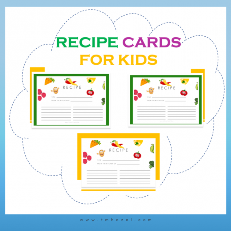 recipe cards for kids