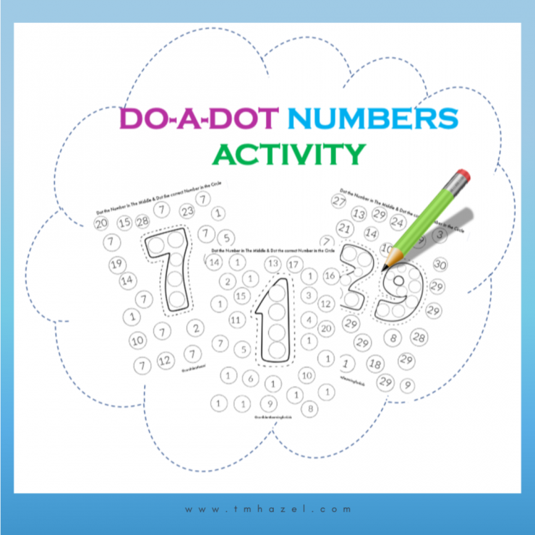 Do a Dot Numbers Printables