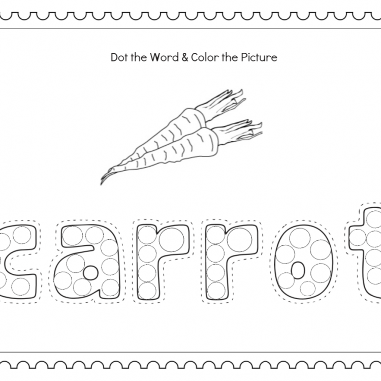 Do-a-Dot and COLORING PAGES OF VEGETABLES