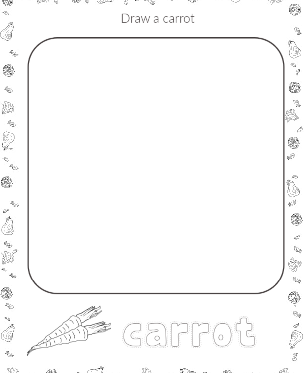 VEGETABLES DRAWING ACTIVITY PRINTABLES