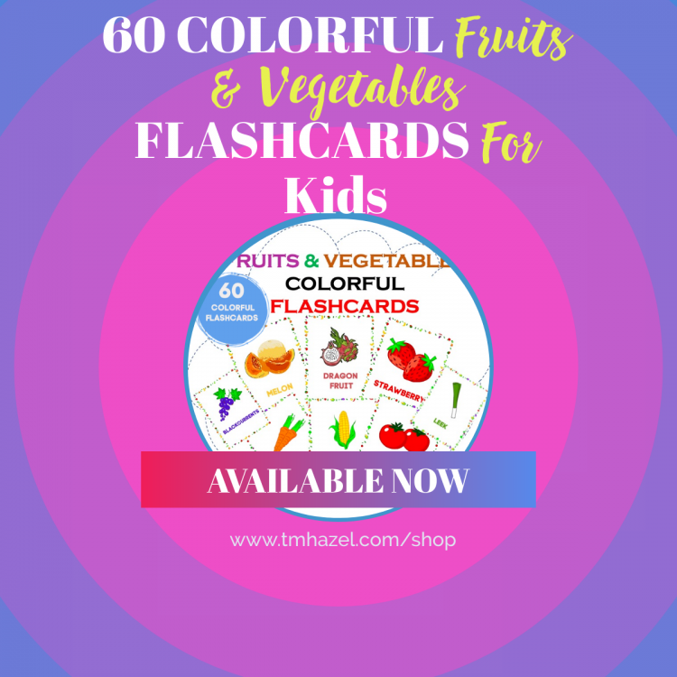 Fruits and Vegetables Kids Flashcards