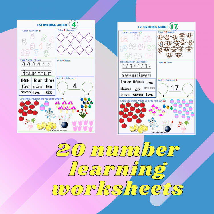 NUMBER LEARNING WORKSHEETS
