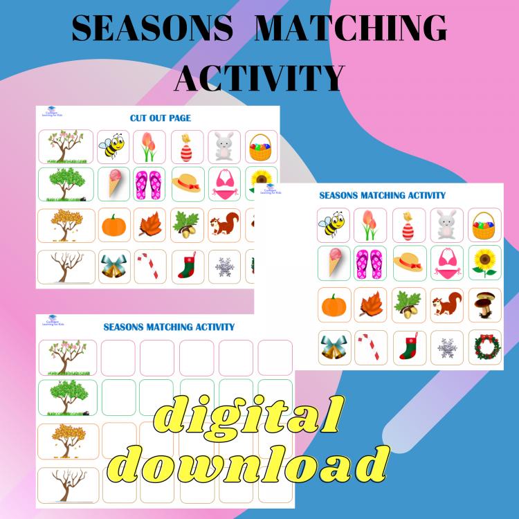 Seasons Matching Activity
